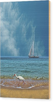 Wood Print featuring the photograph 4485 by Peter Holme III