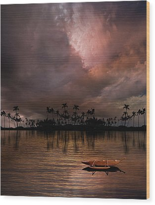 Wood Print featuring the photograph 4489 by Peter Holme III