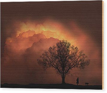 Wood Print featuring the photograph 4491 by Peter Holme III