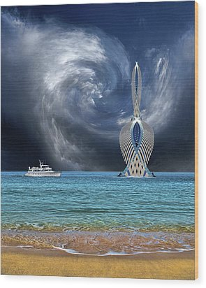 Wood Print featuring the photograph 4492 by Peter Holme III