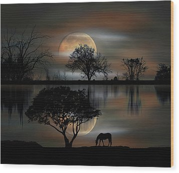 Wood Print featuring the photograph 4493 by Peter Holme III