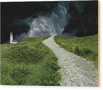 Wood Print featuring the photograph 4495 by Peter Holme III