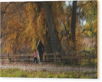 Wood Print featuring the photograph 4496 by Peter Holme III