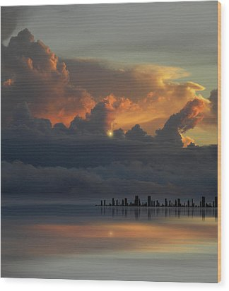 Wood Print featuring the photograph 4500 by Peter Holme III