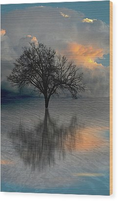 Wood Print featuring the photograph 4507 by Peter Holme III