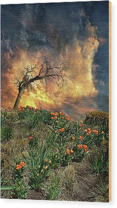 Wood Print featuring the photograph 4509 by Peter Holme III