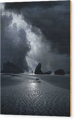 Wood Print featuring the photograph 4511 by Peter Holme III