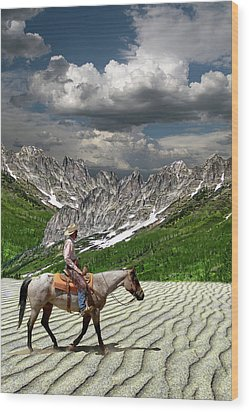 Wood Print featuring the photograph 4513 by Peter Holme III