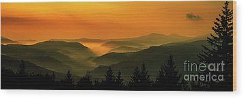 Wood Print featuring the photograph Allegheny Mountain Sunrise by Thomas R Fletcher