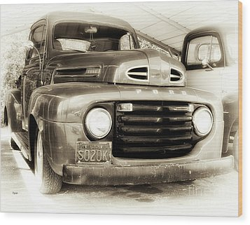 48 Ford  Wood Print by Steven Digman