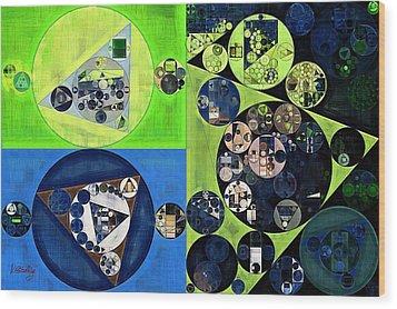 Wood Print featuring the digital art Abstract Painting - Dark Jungle Green by Vitaliy Gladkiy