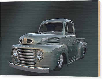 49 Ford Pick Up Wood Print by Jim  Hatch