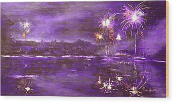 4rh Of July Celebration Wood Print by Terry Honstead