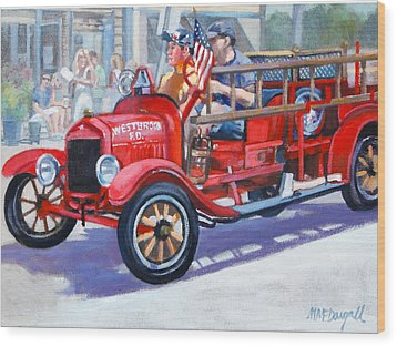 4th Of July Wood Print by Michael McDougall