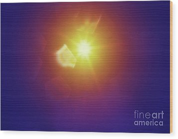 Wood Print featuring the photograph Abstract Sunlight by Atiketta Sangasaeng