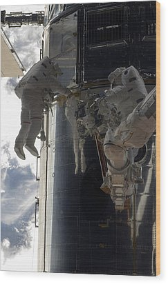 Astronauts Participate Wood Print by Stocktrek Images