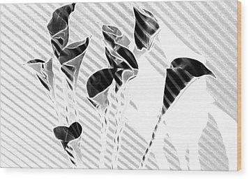 Calla Lilies Wood Print by Gary at TopPhotosI