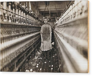 Child Laborer Portrayed By Lewis Hine Wood Print by Everett