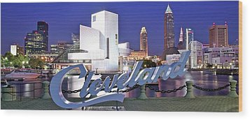 Cleveland Ohio Wood Print by Frozen in Time Fine Art Photography