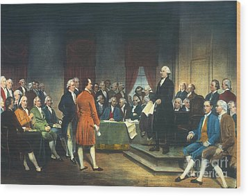 Constitutional Convention Wood Print by Granger
