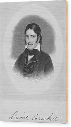 Davy Crockett (1786-1836) Wood Print by Granger