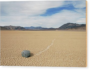 Wood Print featuring the photograph Death Valley Racetrack by Breck Bartholomew