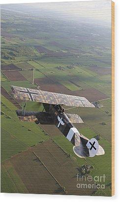 Fokker D.vii World War I Replica Wood Print by Daniel Karlsson
