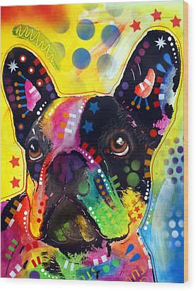 Wood Print featuring the painting French Bulldog by Dean Russo