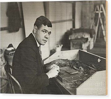 George H. Ruth (1895-1948) Wood Print by Granger