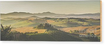 Golden Tuscany Wood Print by JR Photography