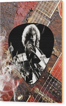 Jimmy Page Art Wood Print