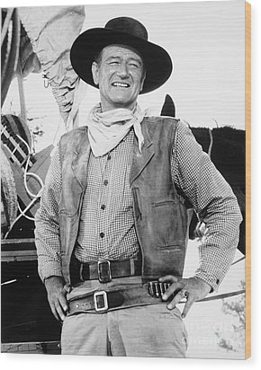 John Wayne (1907-1979) Wood Print by Granger