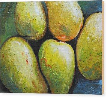 5 Mangos Wood Print