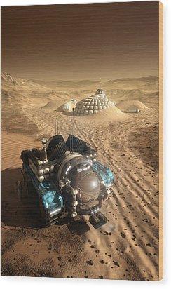 Mars Exploration Vehicle Wood Print by Bryan Versteeg
