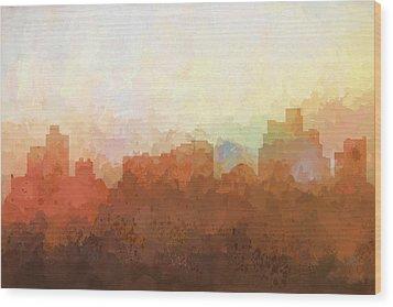 Wood Print featuring the digital art Reno Nevada Skyline by Marlene Watson
