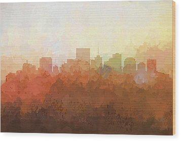 Wood Print featuring the digital art Richmond Virginia Skyline by Marlene Watson