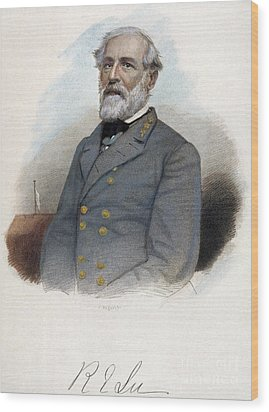 Robert E. Lee (1807-1870) Wood Print by Granger