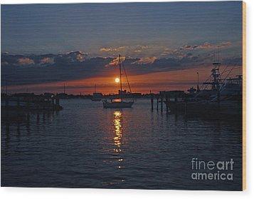 5- Sailfish Marina Sunset In Paradise Wood Print