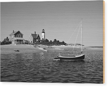 Wood Print featuring the photograph Sandy Neck Lighthouse by Charles Harden