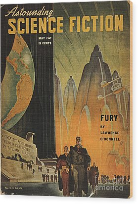 Science Fiction Magazine Wood Print by Granger