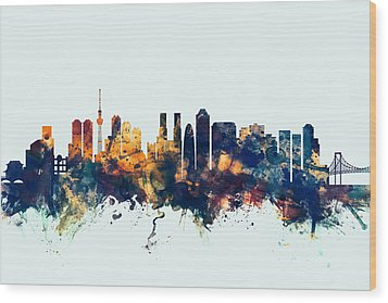 Tokyo Japan Skyline Wood Print