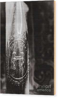 Vintage Beer Bottle #0854 Wood Print