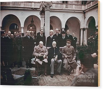 Yalta Conference, 1945 Wood Print by Granger