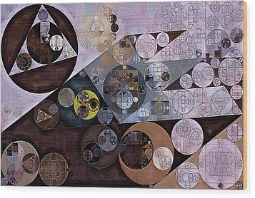 Wood Print featuring the digital art Abstract Painting - Zinnwaldite Brown by Vitaliy Gladkiy