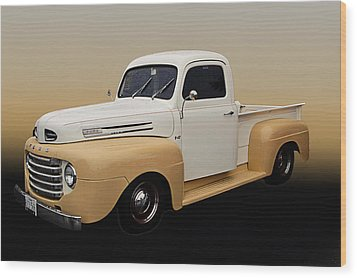 50 Ford Pickup Wood Print by Jim  Hatch
