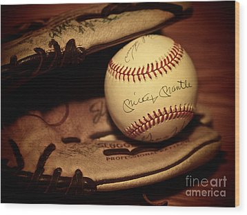 Wood Print featuring the photograph 50 Home Run Baseball by Mark Miller