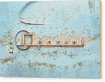 50s Buick Special Nameplate Wood Print by Jim Hughes