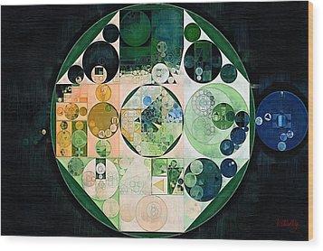 Wood Print featuring the digital art Abstract Painting - Onyx by Vitaliy Gladkiy