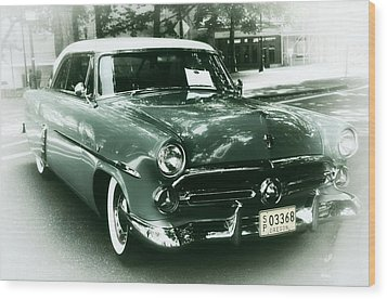 '52 Ford Victoria Hard Top Wood Print by Cathie Tyler
