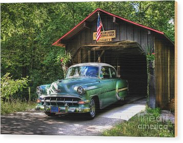 54 Chevy Wood Print by Joel Witmeyer